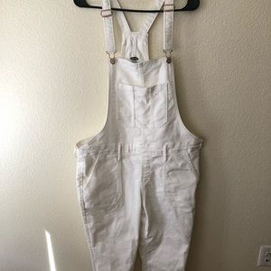 Old Navy white denim overall size 14 plus size